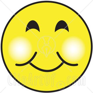 16076-Yellow-Smiley-Face-Graphic-With-A-Closed-Lip-Smile-Clipart-Illustration